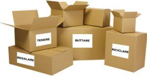 4 scatole per mettere in ordine