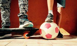 Calcio e skateboard